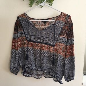 Boho flowy cropped top from Free People